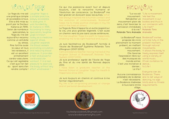 Plaquette Biodanza Yoga du rire par mail 2