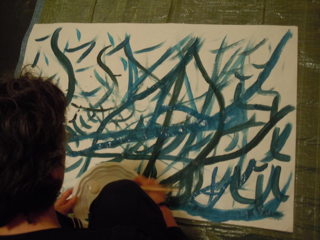 Peinture bleue foncée