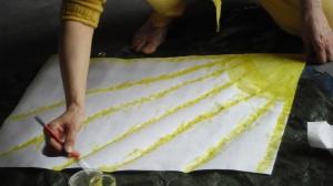 Le jaune irradie