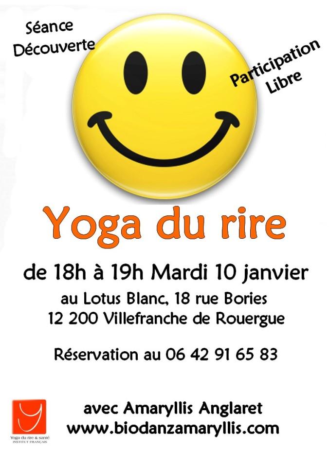 Affiche Séance découverte Yoga du rire à Villefranche le 10 janvier 2017.jpg